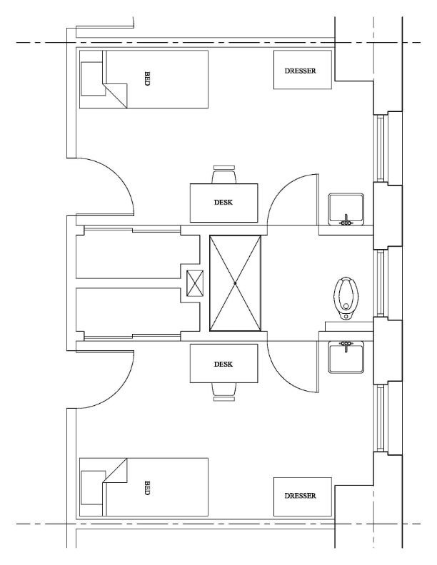 Founders Hall Apartment sample floor layout